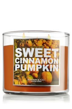 Sweet Cinnamon Pumpkin 14.5 oz. 3-Wick Candle - Slatkin & Co. - Bath & Body Works
