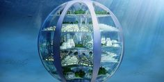 The SmartThings Future Living Report predicts how homes will look in 100 years. Perhaps most striking is where they& be: underwater and underground. Underwater Bubbles, Underwater City, Underwater Hair, Underwater Tattoo, Underwater Drawing, Titanic Underwater, Underwater Photos, Architecture Design, Amazing Architecture