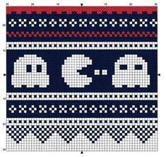 Mønsterbord til space invader-genser