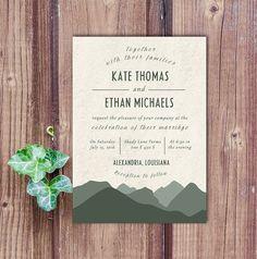 Mountain Wedding Invitation mountain wedding invite outdoor