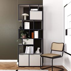 Wall Shelf Ideas for More Storage Space - The Effective Pictures We Offer You About diy face mask sewing pattern A quality picture can tell - Room Divider Shelves, Wall Shelves, Modular Furniture, Design Furniture, Furniture Ideas, Wall Storage, Storage Spaces, Bookshelves In Living Room, Design Living Room