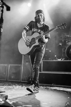 Vic Fuentes of Pierce The Veil on the Second Leg of The World Tour. prints available- http://prints.adamelmakias.com