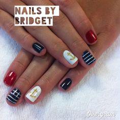 Fun anchor theme nails
