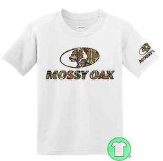 Mossy Oak muddin/' decal t-shirt for men black camo truck men/'s graphic tee
