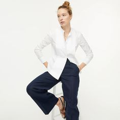 J.Crew: Slim-fit Thomas Mason® For J.Crew Tuxedo Shirt For Women J Crew Summer, Wear Test, Boys Shirts, Tuxedo, Mens Suits, Button Up Shirts, Menswear, Slim, Casual
