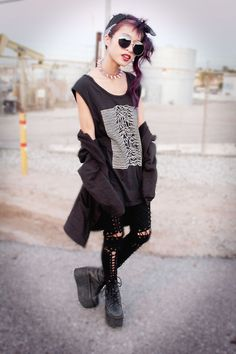Great outfit, punk rock all the way.