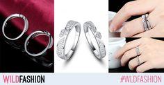 """Iata un set de inele """"surori"""" adorabile! Poarta-le pe amandoua sau daruieste unul celei mai bune prietene. Mai, Gemstone Rings, Wedding Rings, Engagement Rings, Gemstones, Model, Jewelry, Enagement Rings, Jewlery"""