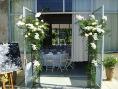 . Floral Event Design, Wedding Events, Floral Arrangements, Outdoor Decor, Plants, Ideas, Provence Wedding, Flowers, Flower Arrangement