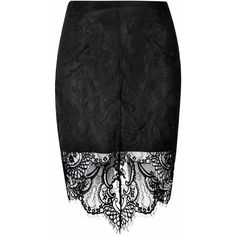 Black Lace Dip Hem Skirt ($32) ❤ liked on Polyvore featuring skirts, bottoms, black, black lace skirt, lace high low skirt, black skirt, bodycon pencil skirt and high-low skirt