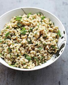 Barley Salad with Herbs – super easy especially if I make my big batch of plain cooked barley in the crockpot ahead of time