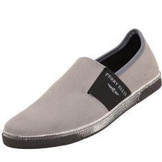 #Zapatos #Perry Ellis , una marca de moda que combina con todo. Calzado color gris de lona. Suela de hule antiderrapante.
