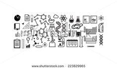 Chemistry icon set - stock vector