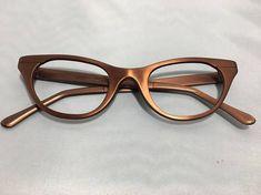 8ee853a3440 Vintage 60s TURA Copper or Copper Rose Aluminum Cat Eye Glasses Frames