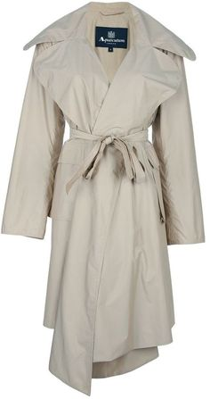 $703, Beige Trenchcoat: Aquascutum London Aquascutum Trench Coat. Sold by farfetch.com. Click for more info: https://lookastic.com/women/shop_items/86935/redirect