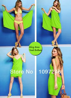 10 pcs Whole Sale Top Sexy Cool Viscosa Dress for Summer Beach 14 color options(Sexy vestido para la playa,strand jurk) $65.00