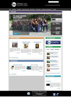 Periódico digital para UNIDAD EDUCATIVA TOMAS MORO, diseño y programación web en joomla,css