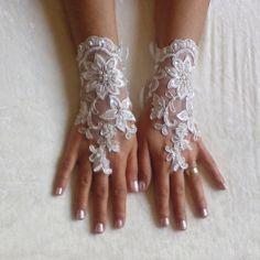 Free  shipping Wedding glove bridal glove by GlovesByJana on Etsy
