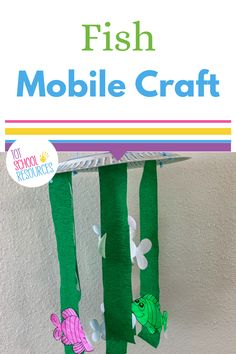 Kids will love this fish craft! This easy diy fish mobile is a great craft for preschool age kids. Works for learning about the ocean or for a letter f is for fish craft idea! #fishcraft #fishmobile #fisforfish Craft Activities For Toddlers, Animal Crafts For Kids, Easy Crafts For Kids, Preschool Crafts, Letter A Crafts, Bible Crafts, Fish Mobile, Mobile Craft, Fish Template