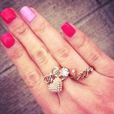 Final Sale T&J Designs Gold Love Ring Size