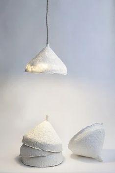 handcrafted linen paper light – Cachette design by Papier à êtres Paper Lampshade, Lampshades, Diy Dream Catcher, Papier Diy, Deco Luminaire, Home Decoracion, Lamp Design, Design Art, Lamp Light