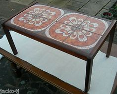 details about tiled coffee table 1960's malkin retro vintage
