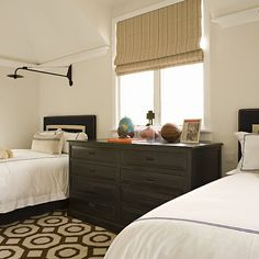Dresser as Nightstand, Transitional, boy's room, Bonesteel Trout Hall