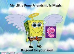 SpongeBob:no,no. It's good for your soul Spongebob Squarepants Cartoons, Mlp Memes, Mlp Comics, Little Poney, Mlp Pony, My Little Pony Friendship, Fluttershy, Equestria Girls, Favorite Tv Shows