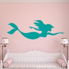 Mermaid Wall decal, Girls room decor, Mermaid Sticker, undersea sticker. …