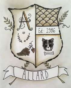 Custom Modern Coat of Arms Family Stone Heraldry ~~~ Keepsakes gift ~~ Makes an Awesome Anniversary or Wedding Gift!!!