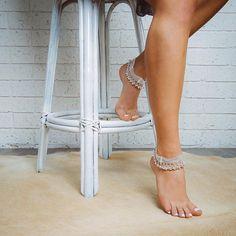 Silver anklet Gold anklet Brass ankle bracelet por ForeverSoles