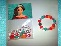 Elena of Avalor Birthday Party Favor, Spanish Princess, Girl's Party Activity, Thank You Gift, 8 Bracelets or DIY Kits