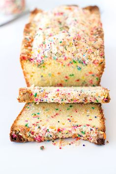 birthday cake bread with crumb topping