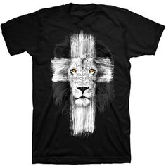 Lion Cross Christian T-Shirt at ChristianApparelShop.com