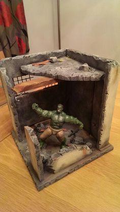 My custom made diorama for 3.75 figures
