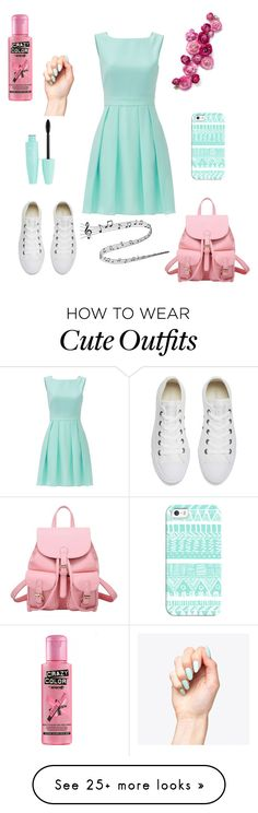 """cute outfit with dress for each day."" by girlwithwine on Polyvore featuring Kate Spade, Converse and Casetify"