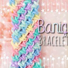 Rainbow Loom Bracelets Easy, Loom Band Bracelets, Rainbow Loom Charms, Rubber Band Bracelet, Rainbow Loom Patterns, Rainbow Loom Creations, Rubber Band Crafts, Rubber Bands, Loom Bands Designs