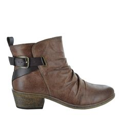 'Pennie Ruched Block Heel Back Strap | Short Boots | Boots | Women's | Categories | The Shoe Company