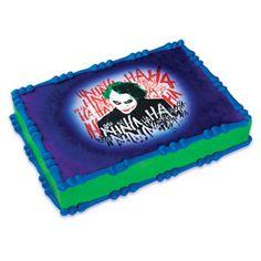 Batman The Joker Edible Image Cake Topper Birthday Party Supplies DC Comics movie party