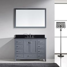 Virtu USA - GS-50048-BGSQ-GR - Caroline Avenue 48 in. Bathroom Vanity Set front view