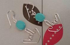 Teal stones ILY Earrings - American Sign Language
