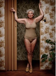 We don't often see images of mature women in our culture, much less mature women in lingerie. It really is a disservice. After all, should women stop feeling good about themselves once they're past the age of 40? Photo by Erwin Olaf.