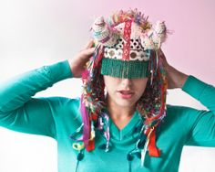 UTHA SHAMAN  Original   festival headdress  fesstival by UTHAhats, $159.00. . . Challenge accepted