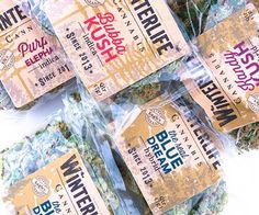 Selling Legal Weed: It's All About the Packaging To earn trust from first-time shoppers, pot producers try high design. Food Packaging, Brand Packaging, Packaging Design, Label Design, Box Design, Cannabis News, Medical Marijuana, Product Label, Custom Labels