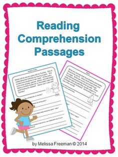 *Best Seller* This Reading Comprehension Package for primary students contains 20 short reading passages with four questions each. There are 13 fiction and seven non-fiction reading passages. It is aimed at a second grade level. Reading Comprehension Passages, Reading Strategies, Reading Activities, Literacy Activities, Teaching Reading, Teaching Time, Learning, Teaching Ideas, Second Grade
