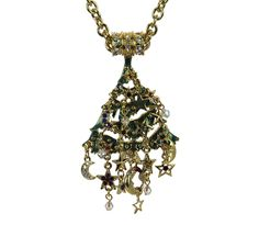 This is the gorgeous Kirks Folly Christmas tree, Star Struck. It has the beautiful Kirks Folly detail and design. The tree is filled with stars and moons and colorful jewel-tone stones. It measures 3-