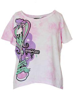 Violetta Skye PASTEL GOTH Tie-Dye Crop Tee ( *FREE GIFT)