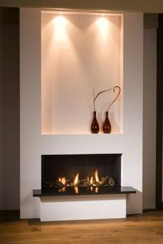 Modern Fireplace Mantles, Linear Fireplace, Home Fireplace, Wooden Mantle, Contemporary Fireplace Designs, Living Tv, Huge Master Bedroom, Scandinavian Home, Rustic Interiors