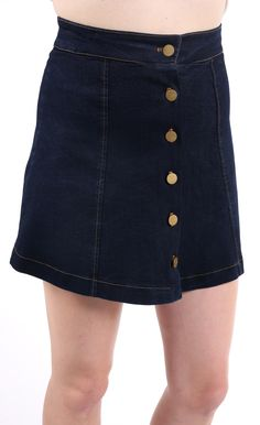 Buttoned Up Mini Skirt