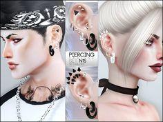 Piercings in 10 colors, all genders. Found in TSR Category 'Sims 4 Female Earrings'