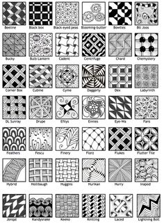 zentangle patterns pdf download - Google 搜尋                                                                                                                                                      More